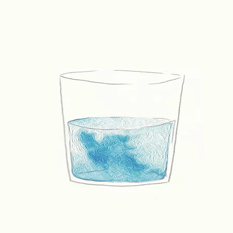 床底下的一杯水